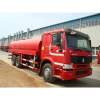 Quality 6 x 4  Driving 260HP Fuel Tanker Trucks With Carbon Steel Tank wholesale