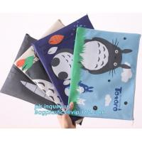 Quality Stationery A4 Paper Waterproof Office Zipper File Bag, Office Stationery Bright Colors OEM File Bag Pocket Clear PVC Bag wholesale