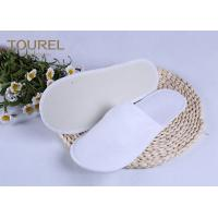 China 3mm EVA Nap Cloth Disposable Spa Slippers For Budget Hotel Bedroom Slippers on sale