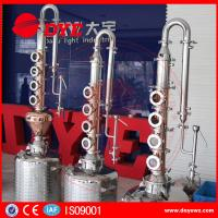 Quality reflux vodka distiller 6plates copper column distill equipment home alcohol distillers wholesale