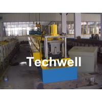 Quality PLC Frequency Control Steel Hat Channel Cold Roll Forming Machine With 0-15m/min Forming Speed wholesale
