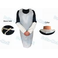 Quality Operating Rooms White Disposable Aprons , Dust Proof Plastic Throw Away Aprons wholesale