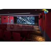 Quality Popular 3D Cinema System With Red Comfortable Seats And Latest 3D Films wholesale