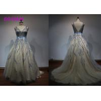 Quality Luxury Bead Work Prom Ball Gowns For Women Special Occasion Evening Embroidered wholesale