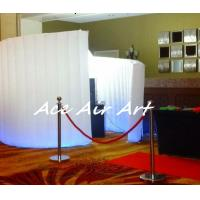 Cheap inflatable spiral wall with led lights for wedding, event party decoration for sale