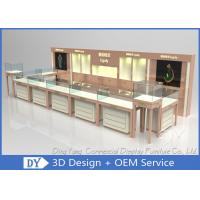 Quality Nice Beige Jewellery Counters Showcases / Jewellery Showcase Design wholesale