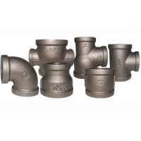 China Durable Black Metal Pipe Fittings , Socket Weld Pipe Fittings ISO7/1 Thread on sale