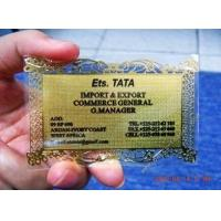 China Copper Custom Metal Business Cards Offset Printing / CMYK 0.86mm Thickness on sale