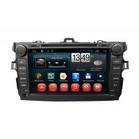 Quality Toyota GPS Navigation Corolla Android Car DVD Player SWC TV Bluetooth Radio USB SD wholesale
