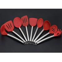 China Food safety , Non-stick, Premium Quality , Stainless Steel Handle Silicone Kitchen Utensils Set , 9 pcs on sale