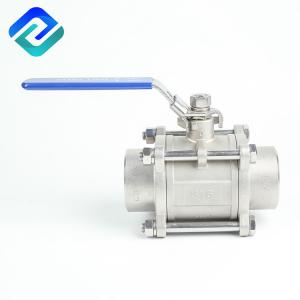 China Thread Parallel BSPP Welding Ball Valve DN50 Full Bore on sale