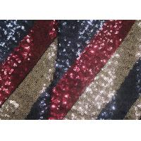 China Multi - Color Embroidered Shiny Sequin Fabric Azo Free For Evening Dress on sale
