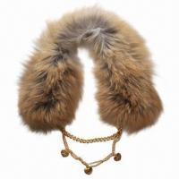 China Scarf, Made of Fur, Fashionable/Comfortable, Customized Fabrics are Accepted on sale