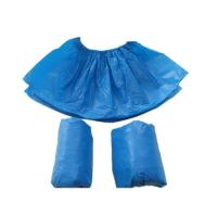 China Anti Virus Durable Blue Plastic Shoe Covers , Hospital Shoe Covers Environmental Friendly on sale