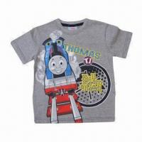 Quality Children's short sleeve T-shirt, 100% cotton single jersey, customized designs are accepted wholesale