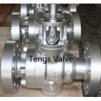 Quality Cast steel industrial trunnion mounted full bore manual ball valve wholesale
