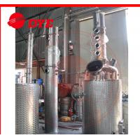 Quality 100gal Gin spirit alcohol distiller with red copper distillation column plates wholesale