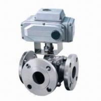Quality Electric Three-way Ball Valve for Light and Chemical Industries, Used for Diverging/Converging wholesale