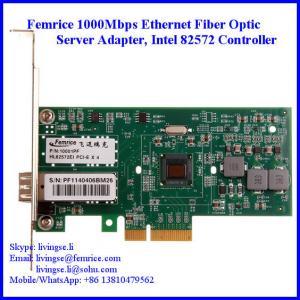 Quality Femrice 1000Mbps Single Port Gigabit Ethernet PCI Express x4 Server Adapter wholesale