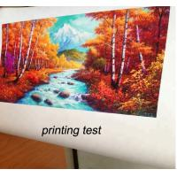 China Printable glossy oil/polyester/cotton waterproof canvas for solvent,eco-solvent,pigment,dye,compatibility printing machi on sale