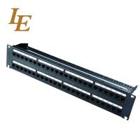 Cheap CAT6A 2RU 48 Port Patch Panel Shield Rack Mount Customized High Reliability for sale