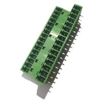 Quality 3.81 Pluggable Terminal Block , Male 3 * 16P Straight Right Angle Terminal Connector wholesale