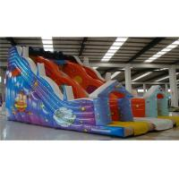China Kids Commercial Inflatable Slide , Obstacle Course Water Slide Cartoon Printing on sale