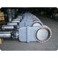 Quality CL150/PN16 RISING STEM os&y CI/DI WCB/a126 b/astm a536 DOUBLE FLANGED RF BONNETED KNIFE GATE VALVE wholesale