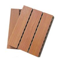 Quality MDF Studio Auditorium Wooden Grooved Acoustic Panel / Sound Absorbing Wall Panels wholesale