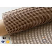 Quality 4x4 Brown PTFE Coated Glass Fabric For Printing Machine Conveyor Belt wholesale