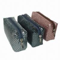 Quality Metal mesh bags, 4mm aluminum mesh, zipper closure, OEM orders are welcome wholesale