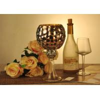 Quality Antique Mosaic Glass Candle Holder Electroplating Christmas Decoration wholesale