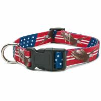 China All Seasons Polyester Dog Collar Buckle Type Customized American Flag Design on sale