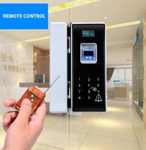 China RF Card Biometric Glass Door Lock Semiconductor Sensor Big Data Capacity on sale