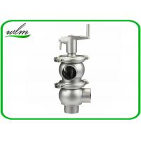 Quality Stainless Steel Hygienic Sanitary Shutoff Manual Diverter Valve With 0-10 Bar Working Pressure wholesale