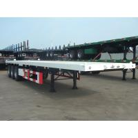 China 35T 50T Heavy Duty 40 Foot 3 Drum Axle FlatBed Semi Container Truck Trailer on sale