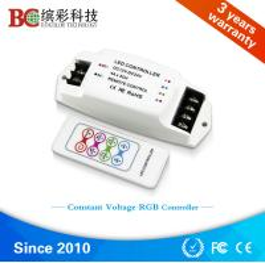 China BC-361-4A 12v - 24v 144w 288w rf wireless remote led lighting rgb controller on sale