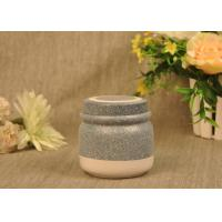 Quality 350 Ml Glazed Tealight Ceramic Candle Holder with Lid , Reusable wholesale