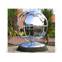 Quality Metal World Globe Map Stainless Steel Sculpture For Public Decoration wholesale