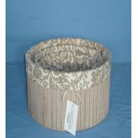 Quality New brown luxury round wooden box with lining wholesale