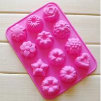 Quality silicone muffin cake molds , flower shape silicone tray  mold ,custom  silicone  mold wholesale