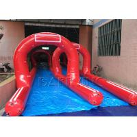 Quality Customized Amazing Giant / Big Inflatable Slides Inflatable Pirate Ship Double Slide wholesale