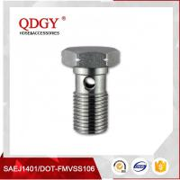Quality STAINLESS STEEL MATERIAL BRAKE HOSE FITTINGS SINGLE BANJO BOLT M12 X 1.25 wholesale