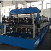 Buy cheap Double Layer Sheet Metal Forming Equipment , Metal Roofing Roll Forming Machine Manual Decoiler product