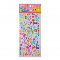 China Cartoon Musical Instrument Design Party Stickers  Sing Songs Decor Room 1.8mm Thick Stickers on sale
