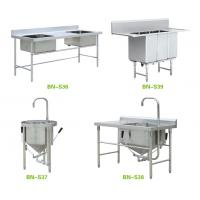Quality Freestanding Stainless Steel Wash Sink , High End Restaurant Kitchen Sink wholesale