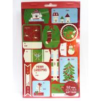 China Christmas Sticker Printing White Paper Board Sheet Holiday Decoration on sale