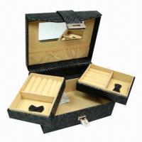 Buy cheap Jewelry Gift Box, 5 Apartments with Mirror, OEM Orders are Welcome from wholesalers