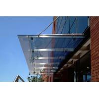 Quality Fashionable Stainless Steel Glass Canopy Withstand 12 Level Strong Typhoon Impact wholesale