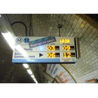 High Definition Panel Mount Electronic Information System For Paris Metro Line 13